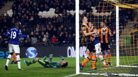 Late Ross Barkley header ensures Hull's winless run goes on