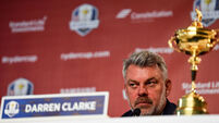 Fighting talk as Darren Clarke keeps his eyes on the prize