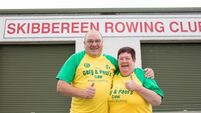 'Pull like a dog' t-shirt to raise funds for O'Donovan brothers' rowing club