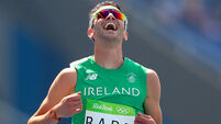 Thomas Barr celebrates after his heat 15/8/2016