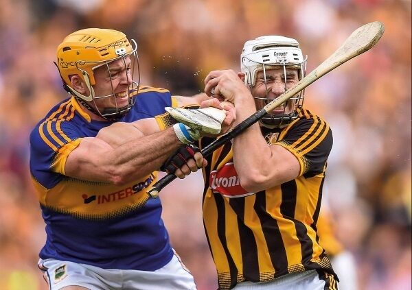 Kilkenny's Liam Blanchfield and Tipperary's Pádraic Maher battle it out during the All-Ireland SHC final at Croke Park last September. Photo: Stephen McCarthy/Sportsfile