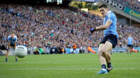 Diarmuid Connolly scores their first goal of the game with a penalty 1/10/2016