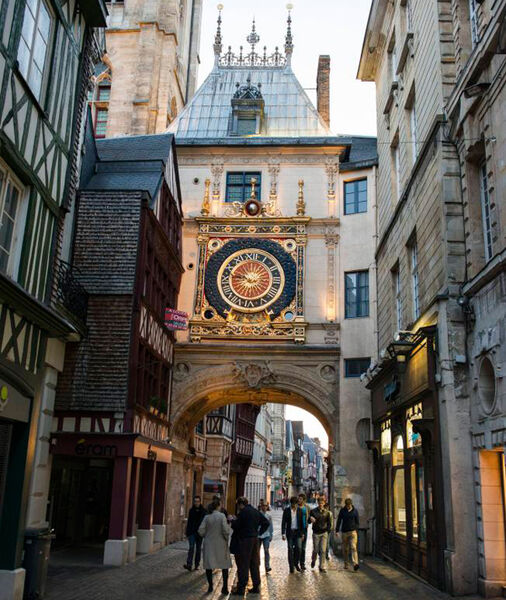 The Gros Horloge (or great clock) is the 16th-century timepiece in the heart of gorgeous Rouen, France.