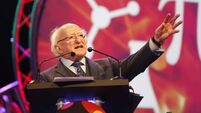 President Higgins urges Young Scientists to share their knowledge with the world