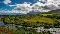 Valley and River at the Ring of Kerry in Ireland