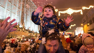 WATCH: 'Miracle child' who survived 70 ft fall switches on Limerick's Christmas lights