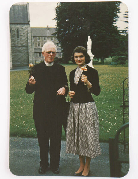 Jackie Kennedy and Fr Joseph Leonard, with whom she began a correspondence. Picture: Irish Times/Sheppards