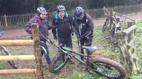 WATCH: Three lads comedically try to untangle a bike from an electric fence