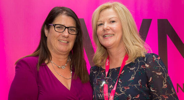 Rosemary Delaney (left) with Evelyn O'Toole, CLS, WMB Business Woman of the year, at the Women Mean Business Conference and Awards 2016.