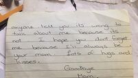 Letter from dying mother found