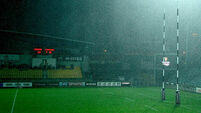 A view of conditions in the Lanfranchi Stadium which caused the match to be temporarily suspended 17/9/2016