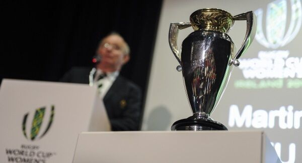 The Women's Rugby World Cup trophy.