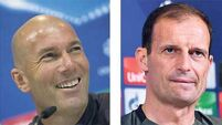 Grand masters Allegri and Zidane prepare for Cardiff chess match