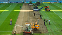 Fine weather aids Croke Park re-sodding