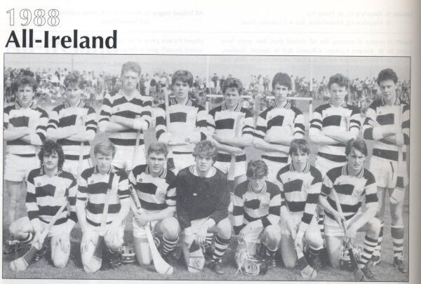 Kingpins of 1988: St Kieran's College All Ireland winning side with DJ Carey (second from right, front row) and Adrian Ronan (far left, back row).