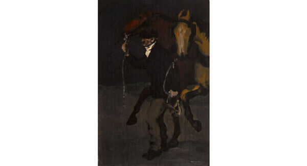 'Fresh Horses' by Jack B Yeats (1871-1957) at Whyte's art sale in Dublin on February 27. (€40,000- €60,000)