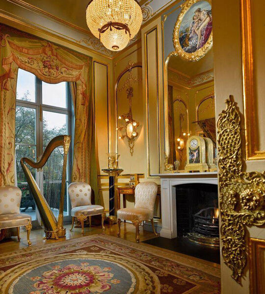 The parlour at Edward Haughey's Belgrave Square residence, which formed the backdrop to life at the highest levels of British society.
