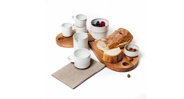 Stackable pottery from Rosemary Durr saves on cupboard space as well as being a timeless product (from €10-€22 at the Irish Design Shop).
