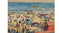 A cheerful bank-holiday scene by Kernoff at Dolan's auction