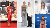 On the red carpet: Princess Charlene, Jessica Biel, Krysten Ritter, Halle Berry