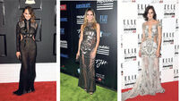 On the red carpet: Chrissy Teigen, Heidi Klum, Eliza Cummings, Rihanna