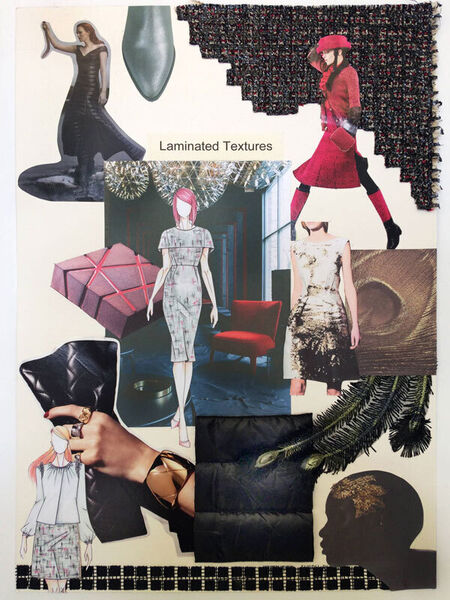 The mood board Caroline uses for inspiration to match textures and fabrics.