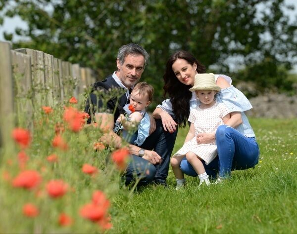 Ciara Whelan with her partner Jon Slattery and children Edie and Bo in Naas, Co Kildare. Picture: Adrian Melia