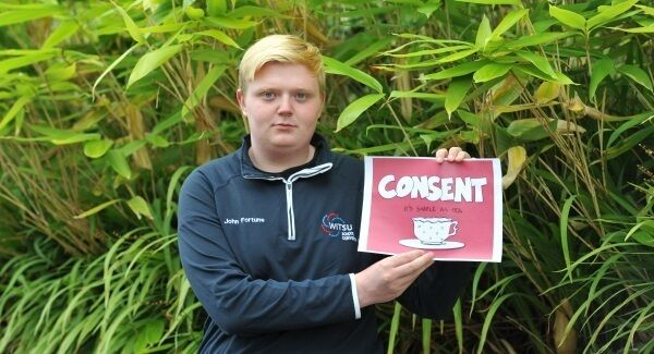 WIT second-year business student John Fortune, WITSU School Convenor 2017/18 at Waterford Institute of Technology. John was impressed with the way last year's SHAG Week promoted the issue of consent. Picture: Larry Cummins