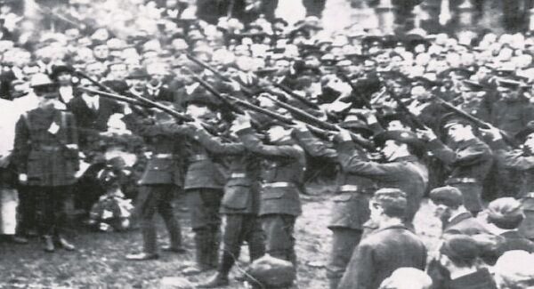 A volley was fired over Thomas Ashe's grave