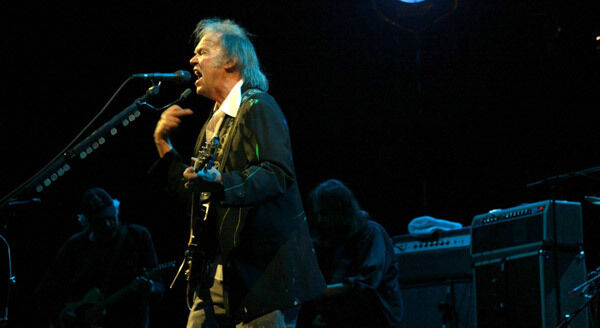 Neil Young performing at Live at the Marquee.