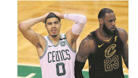 LeBron defies Celtics as Cavs back in finals