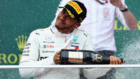 Lewis Hamilton lucky to get back on track