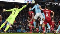 Aguero pops up again as Man City deny brave Bristol