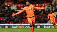 Salah shines as Liverpool pile misery on Stoke