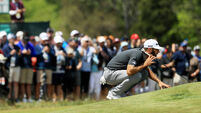 Rain fails to halt Dustin Johnson's gallop at US Open