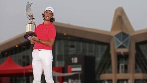 Tommy Fleetwood begins season as he finished last one: holding a trophy