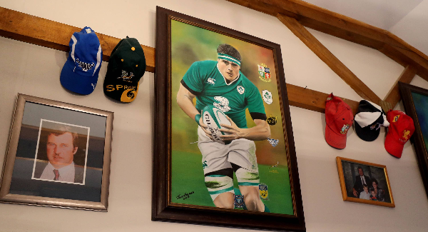 A view of CJ Stander memorabilia in his parent's home. Pic: INPHO/Dan Sheridan