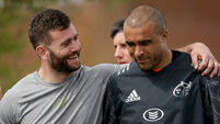 Jaco Taute and Simon Zebo 30/4/2018