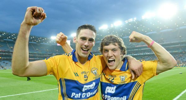 Brendan Bugler and Shane O'Donnell after the 2013 All-Ireland hurling final replay