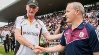 Micheál Donoghue shakes hands with Brian Cody after the game  27/5/2018