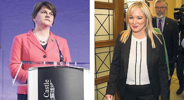 DUP leader Arlene Foster (left) and Sinn Féin Northern Ireland Assembly Leader Michelle O'Neill (right)