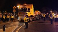 Corrib-gas truck still stuck at junction