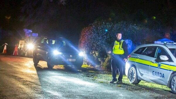The scene of the crash near Duncormick, Co Wexford. Picture: Patrick Browne