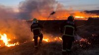 Firefighters tackle gorse fires in West Cork