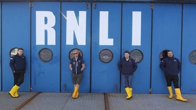 Kinsale RNLI volunteers David Carter, Felix Milner, Jonathan Connor, and Patryk Meirzejewski.Volunteers remain on call 24/7 during the coronavirus crisis while adhering strictly to the health regulations.