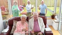 Lillian and Gus toast 60th wedding anniversary