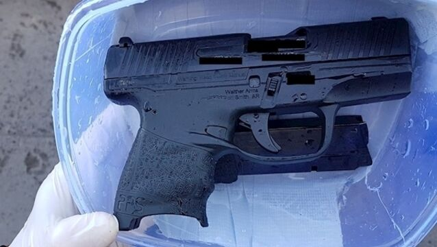 One of the guns seized by gardaí yesterday. Pic: Garda Press Office.