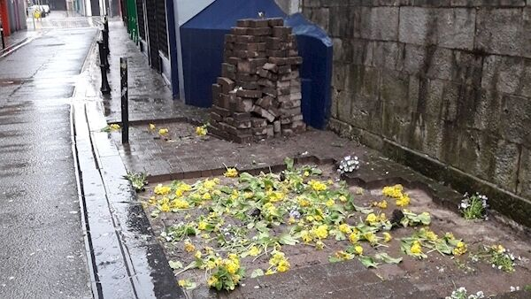 Some of the damage caused in Cork city over the weekend. Pic: Cork City Council.