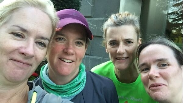 Carol, Sinead, Mairin and Deirdre (nee McNally) who are running 400 miles in four weeks in three counties to support their aunt.