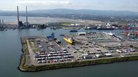 Dublin Port sees sharp reduction in goods - and people -  coming into country